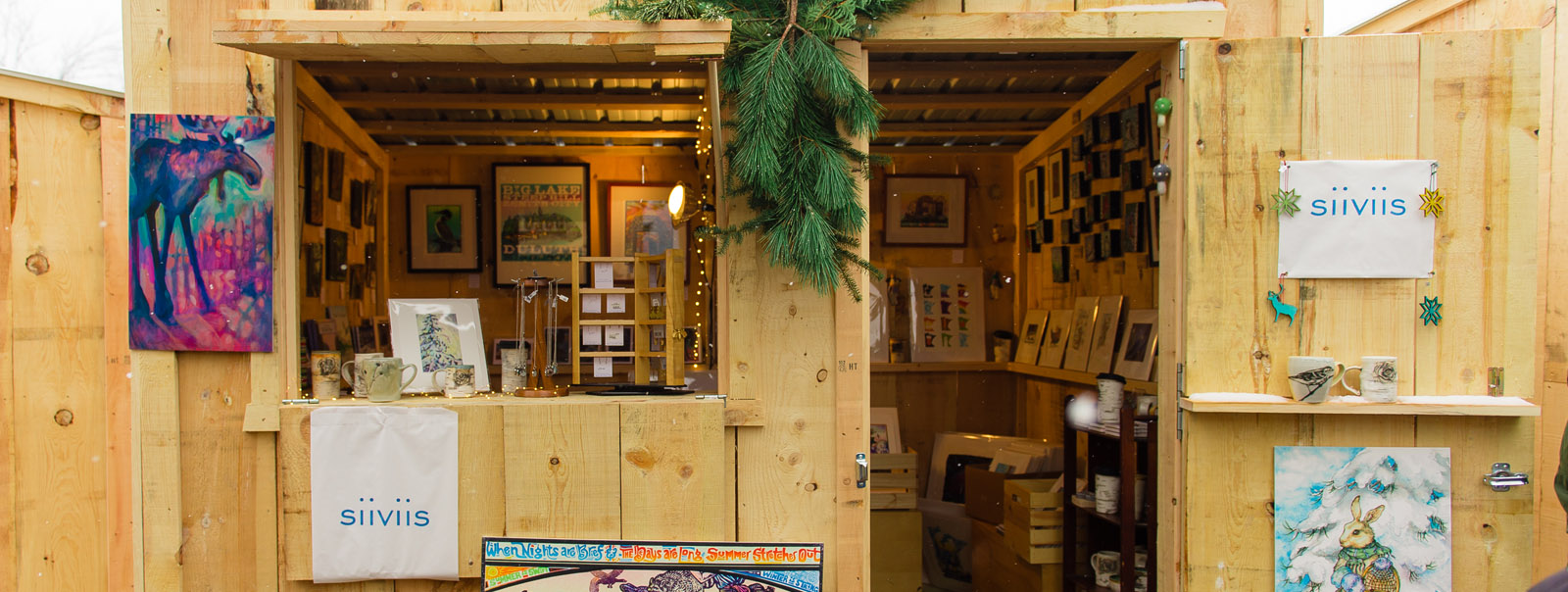 Shop local this season at area vendors selling from beautiful wood cabins made by Knutson Custom Construction